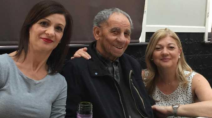 Tullio Farella with daughters Paula Lincoln and Anna Del Ciotto.