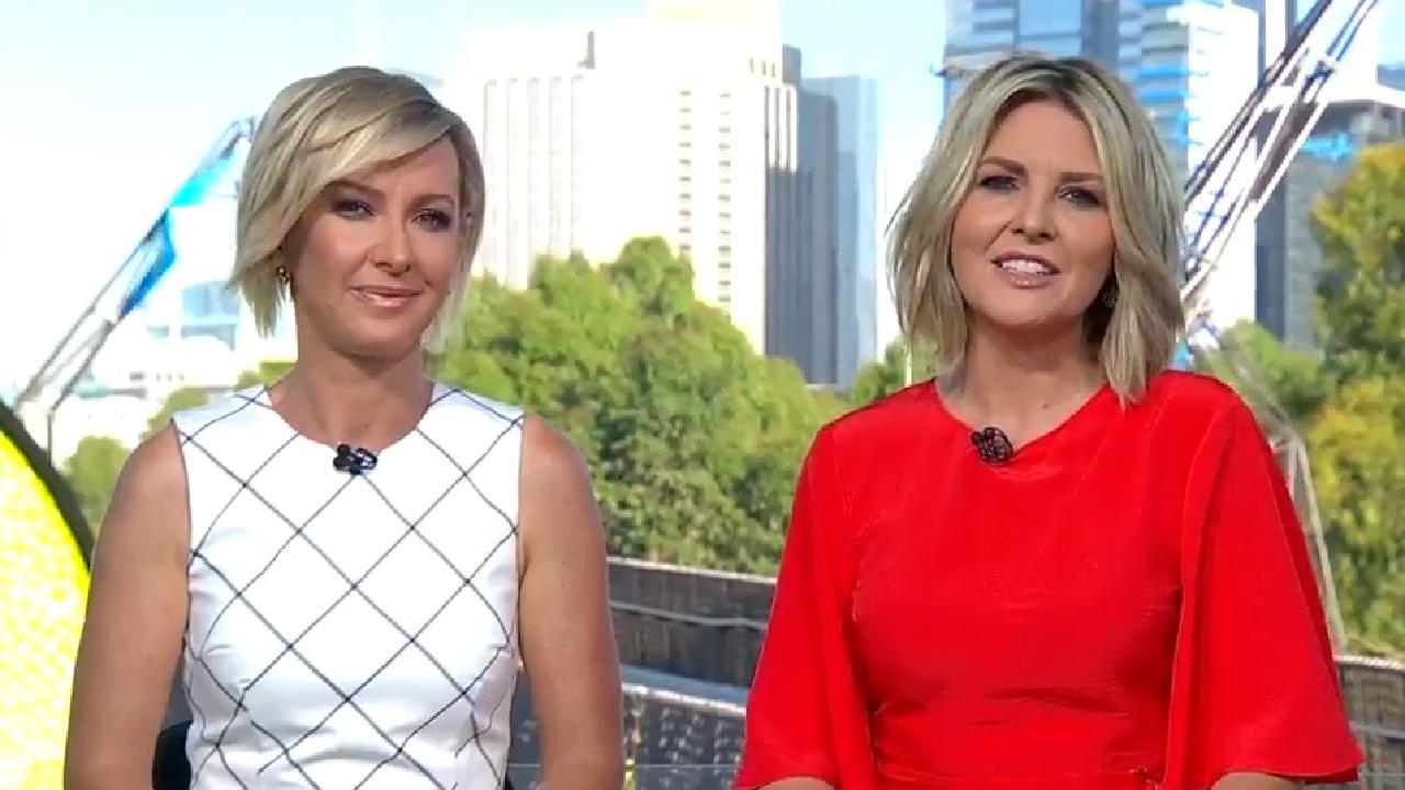 Deborah Knight and Georgie Gardner on Today. The show is facing a ratings crisis.