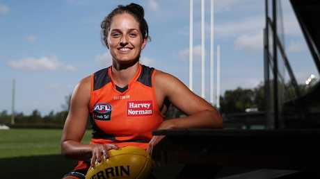 GWS Giants AFLW player Ellie Brush has given up playing in the W-League. Pic: Brett Costello