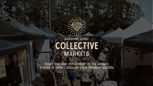 The Sunshine Coast Collective Markets is a boutique and unique market that showcases local, up-and-coming homegrown talent. FASHION/HOMEWARES/ART/MUSIC/FOOD