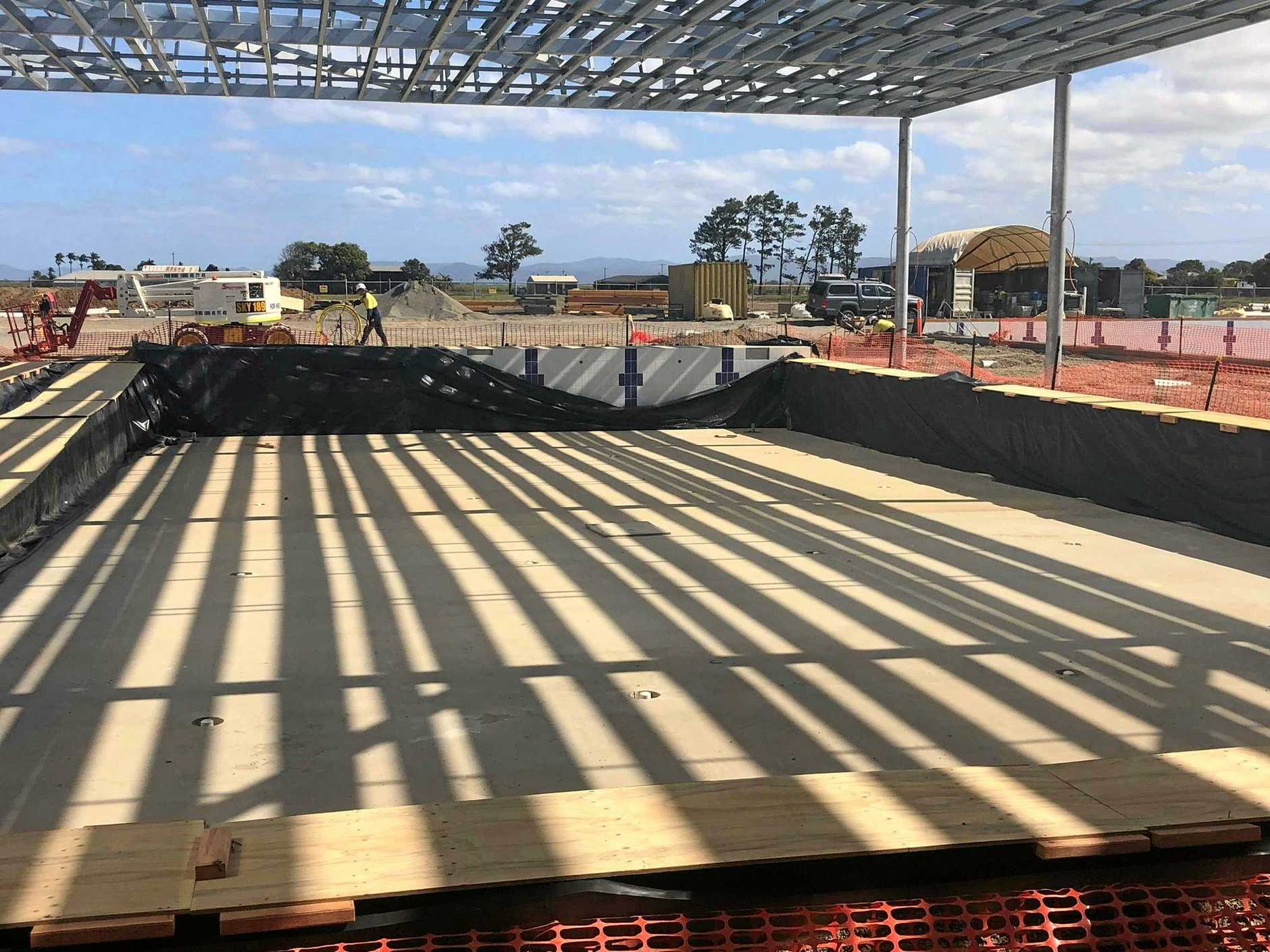 The Mackay Regional Sports Precinct project is running ahead of schedule. The precinct will be located next to the CQUniversity Ooralea campus on Boundary Road.