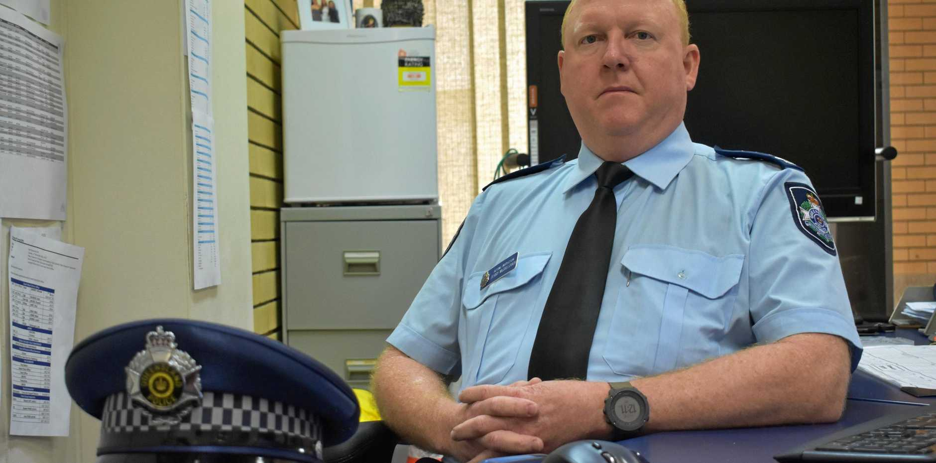LIVES DESTROYED: Dalby Police have seen children as young as 12 turn to crime to fund methamphetamine addictions. Pictured: Senior Sergeant Terry McCullough.