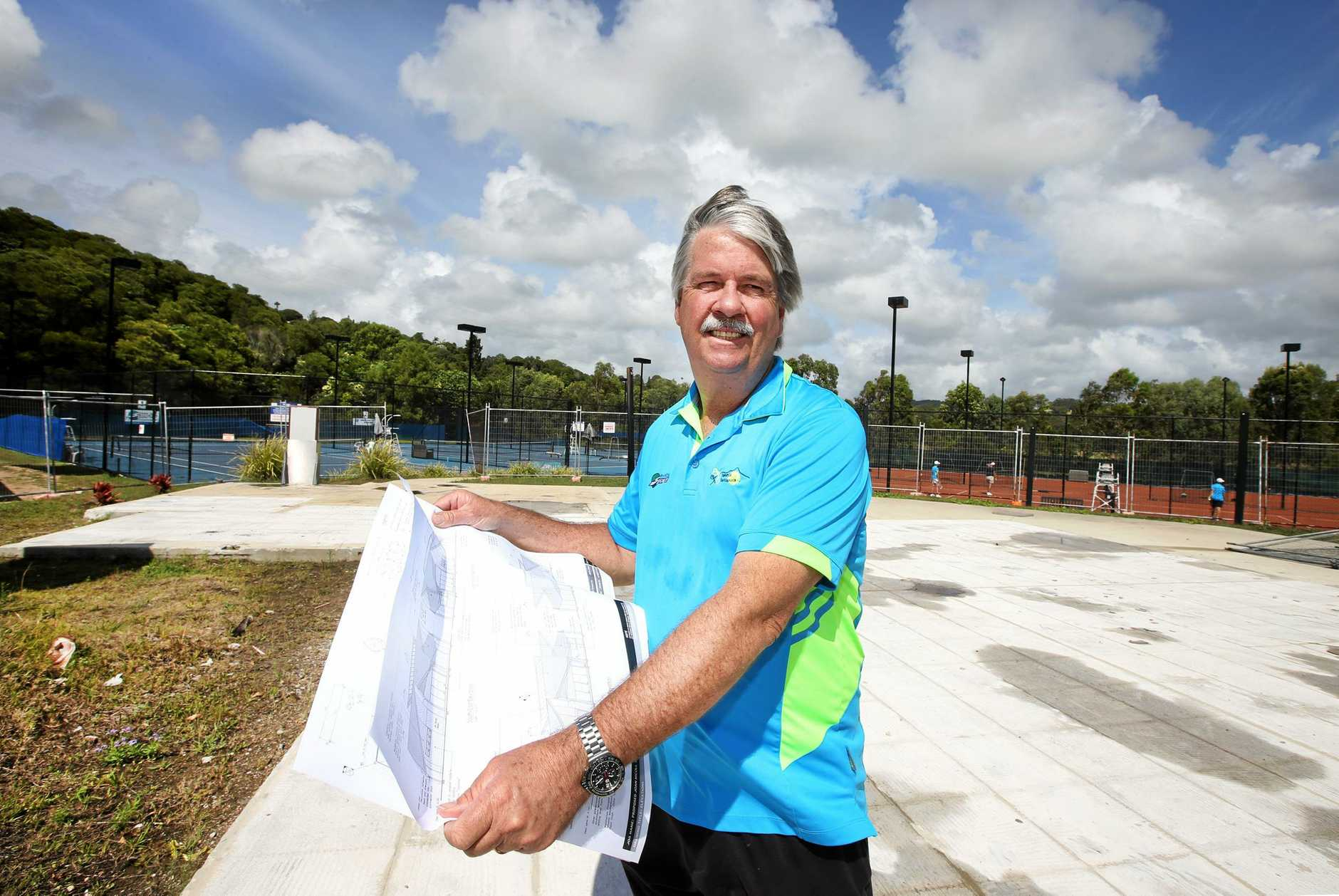 READY TO START: Rob Nienhuis from Terranora Tennis Club. Construction for their new clubhouse has been approved.