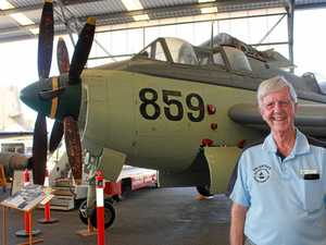 Ex-Navy and Qantas pilot keeps his hand in aviation