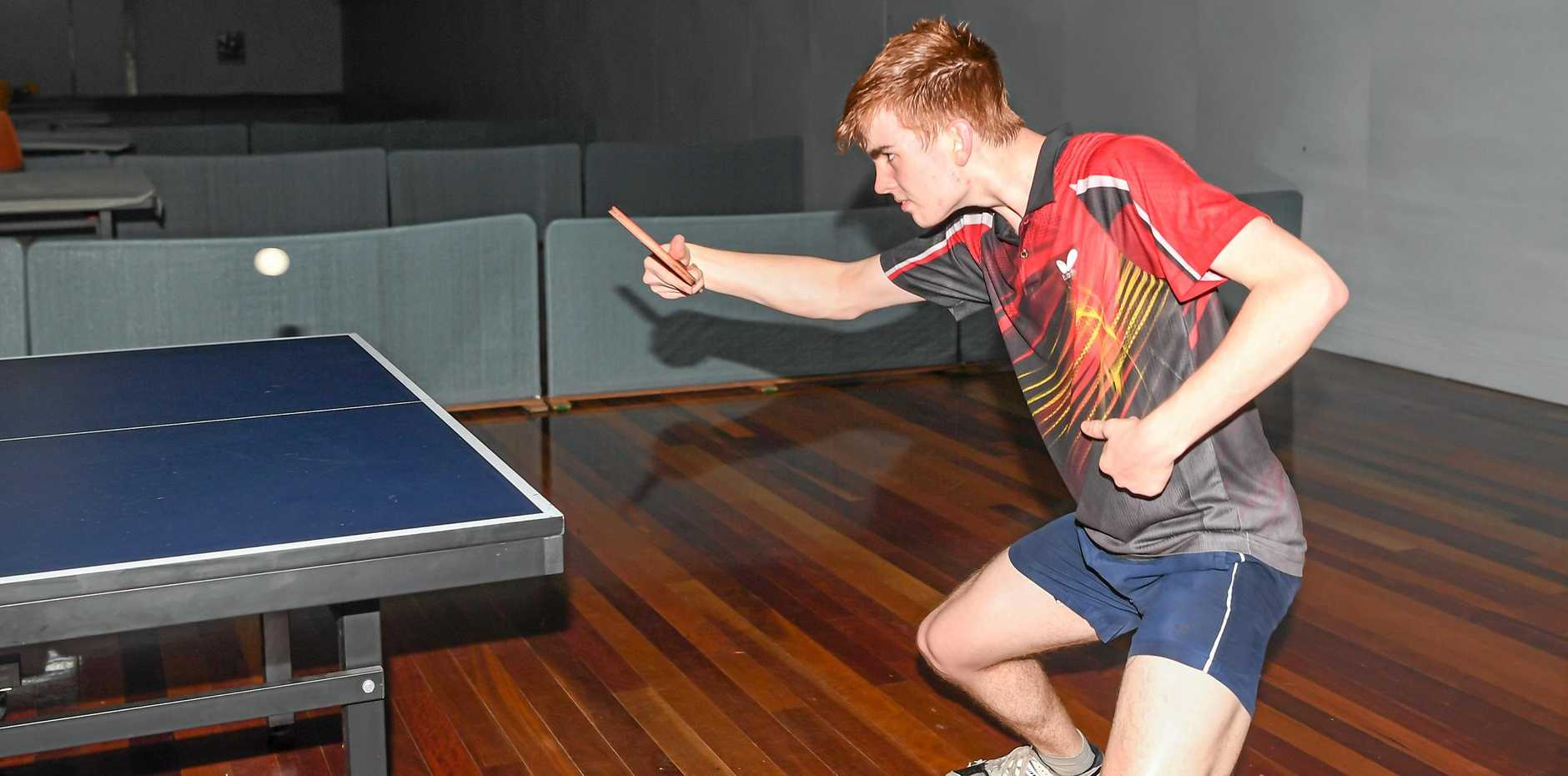 SWING: Former Bundaberg Table Tennis player Hayden Green is back in the region to help launch a come and try day tomorrow night.