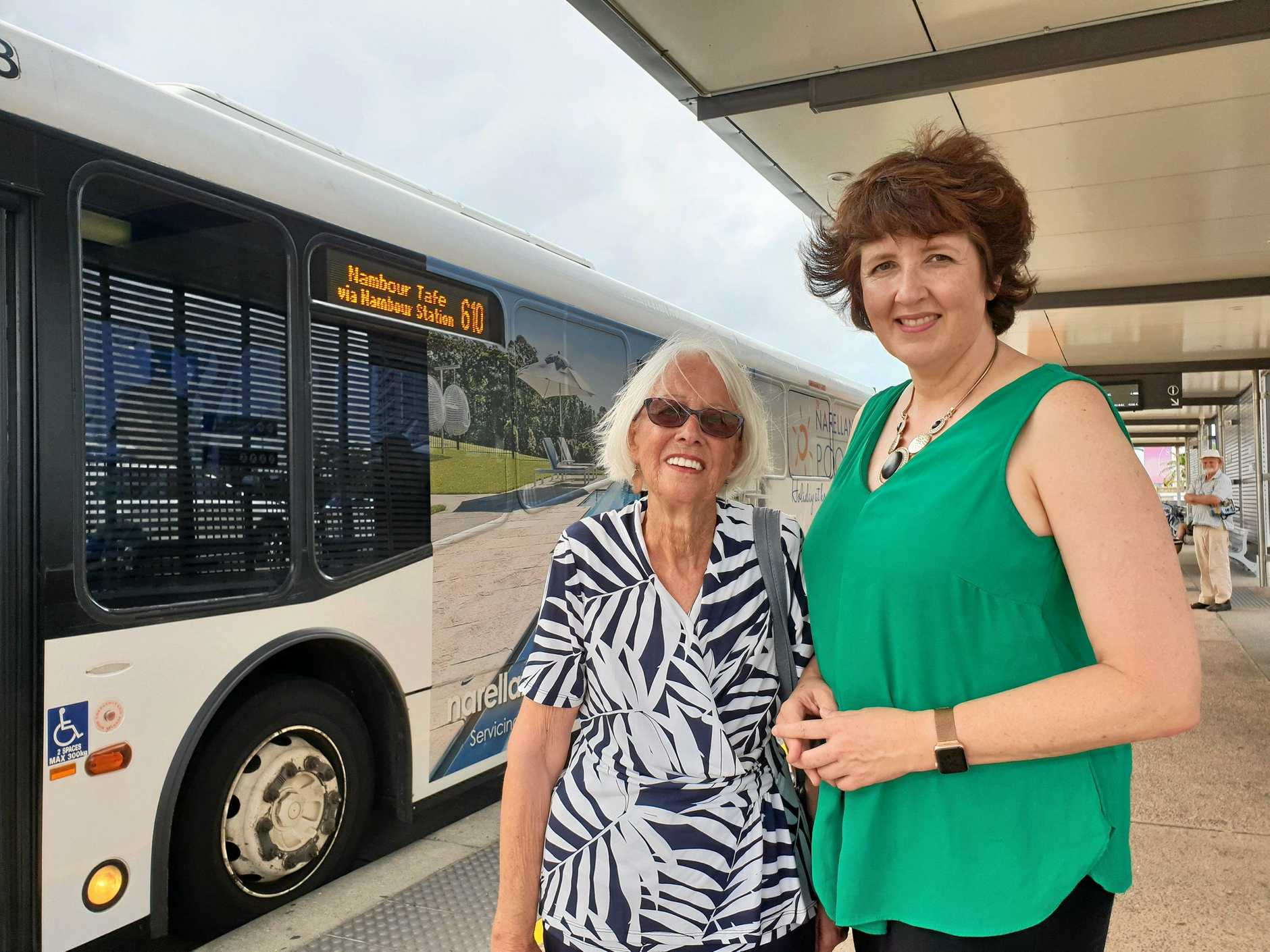 CONCERNED: Claire Cameron and Fiona Simpson want better bus safety.