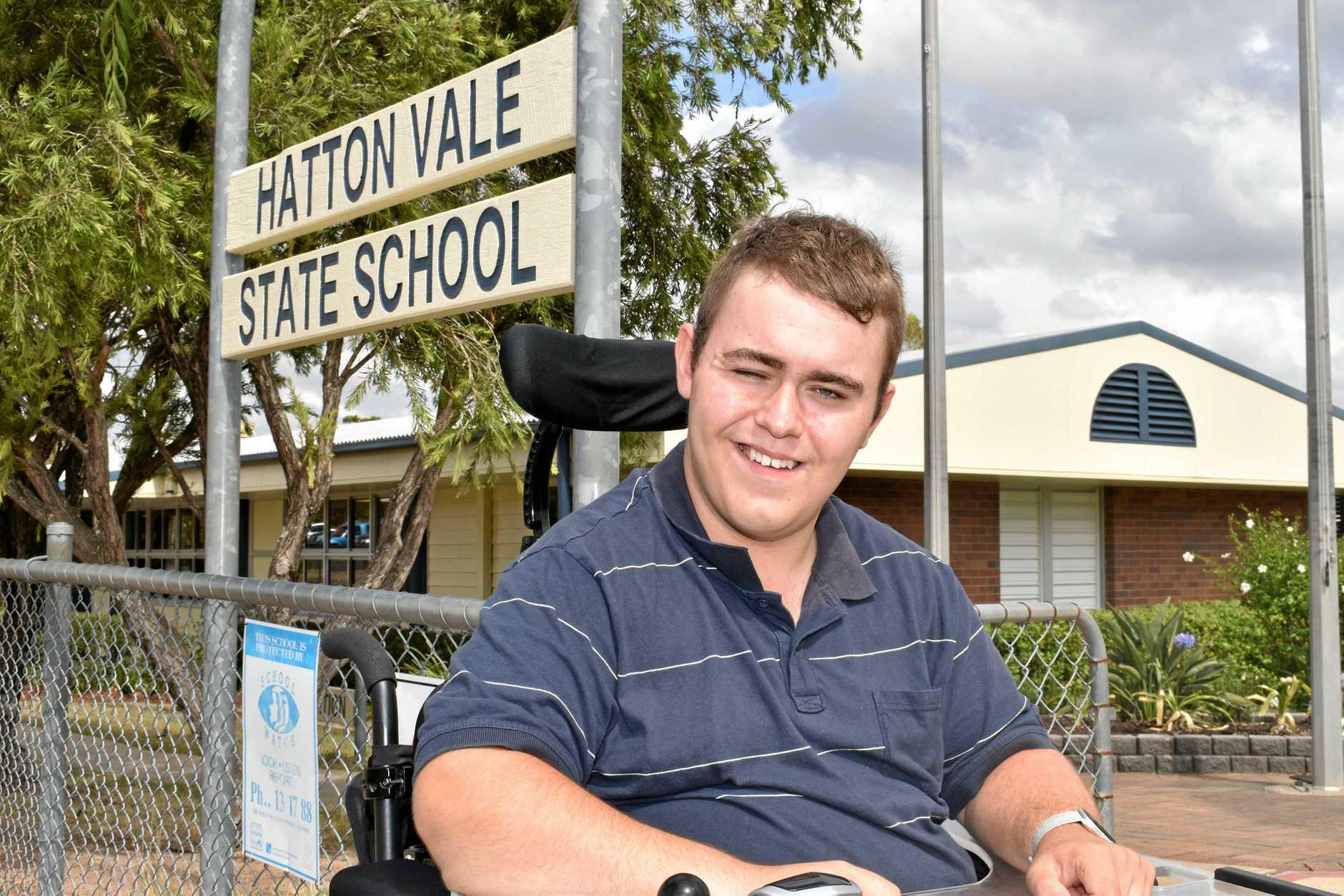 Lochlan Thomas at Hatton Vale State School on January 30.