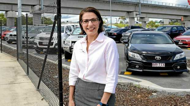 EARLY WIN: Ahead of the 2017 election Charis Mullen announced a $44million commitment for the Springfield Central Station Park n Ride facility if Labor was re-elected.