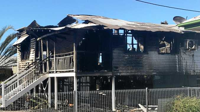 A suspicious fire tore through and destroyed a two-storey home on Eldon St in Berserker in the early hours of Thursday morning.