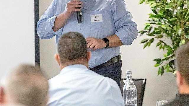 NO REPORT: Adani Australia chief executive Lucas Dow in Rockhampton last year.