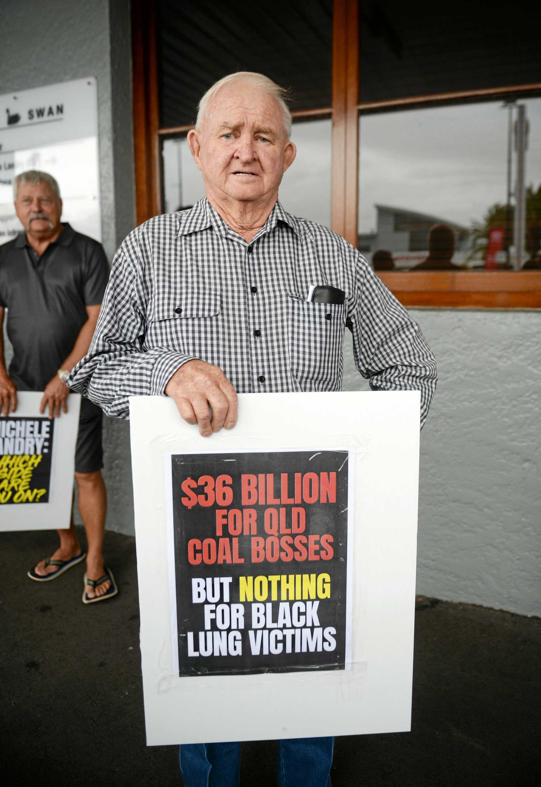 Victims seeking support fund backed by 1 per cent per tonne, per week levy on coal production. Allan White