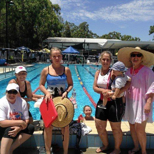 MAKING A SPLASH:  The Kingaroy Kickers Swimathon team raising funds for the more than 3,900 people living with MS in Queensland.