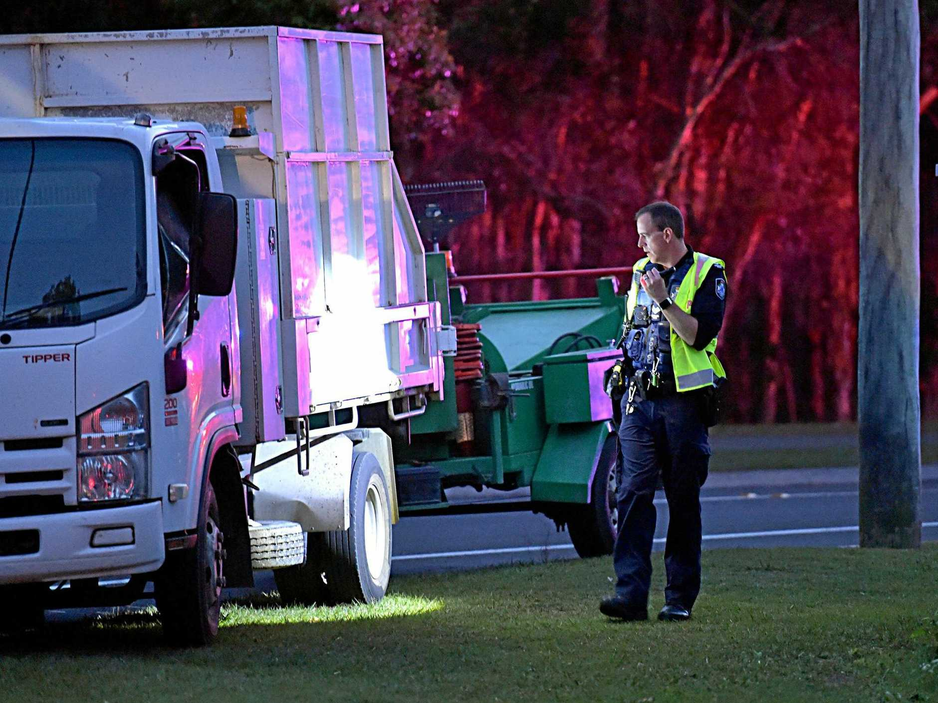 Police investigate the scene of a crash which killed Sharon Cuthbert at Coolum.