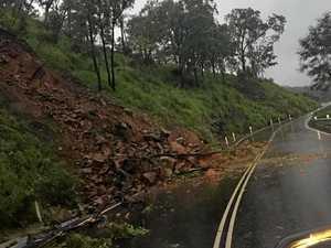 Crews work to repair Sarina Range Rd landslip