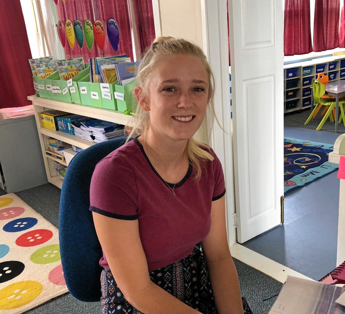 New teacher Miss Loren McInnenery.