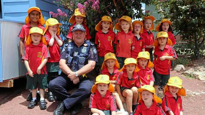 GOOD COP: St Joseph's School adopt Sergeant Daniel O'Dea as part of the Adopt-a-Cop program.