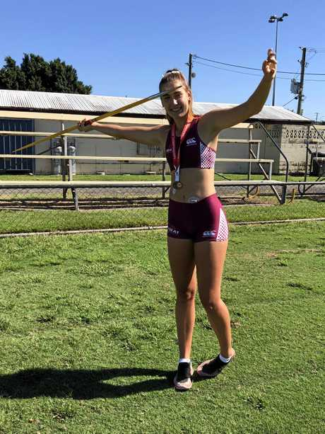 AIMING FOR NEW HEIGHTS: Gympie athlete Chantelle Chippendall is focused on representing her country and qualifying for the World Junior Titles.