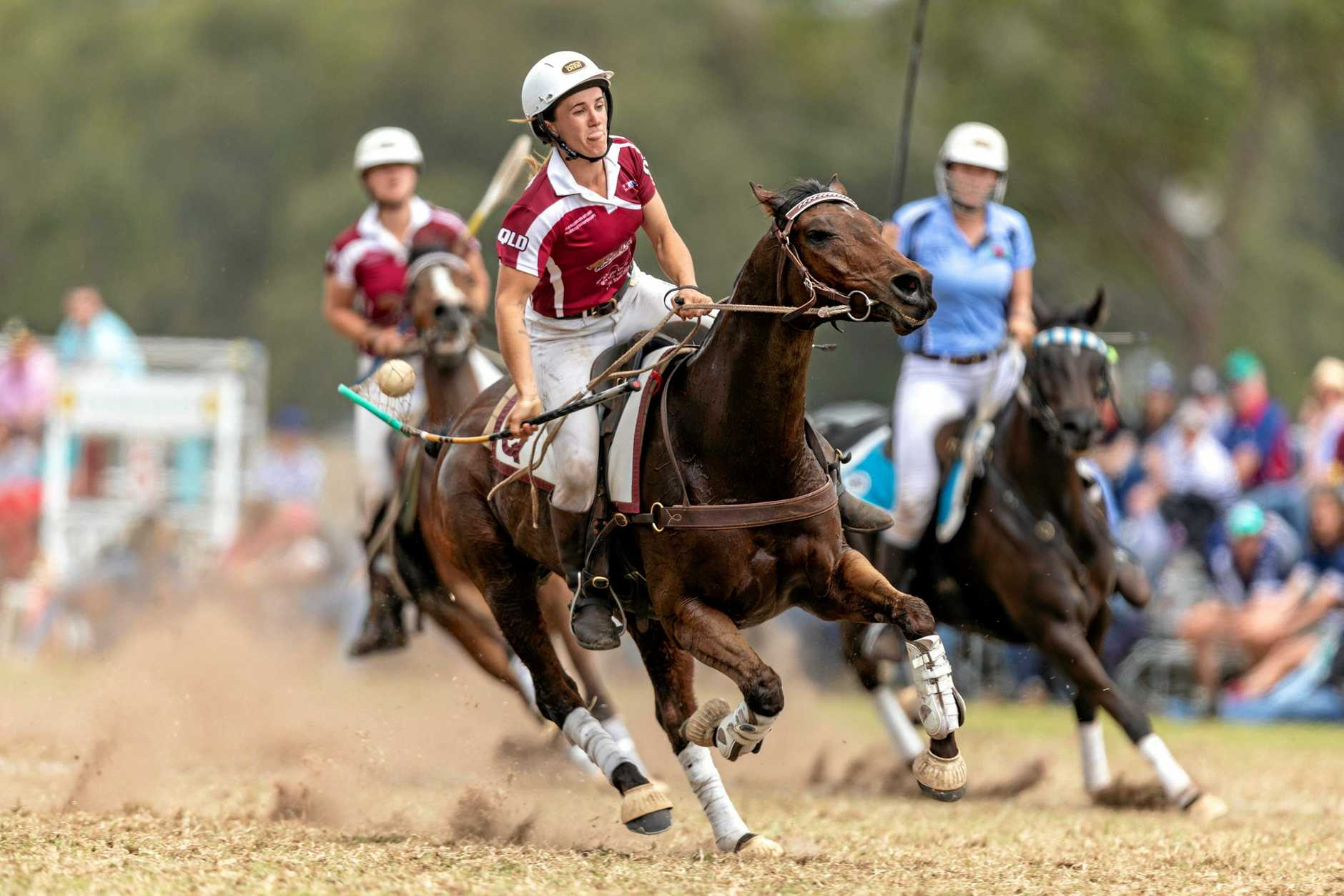 TAKING ON THE WORLD:   Tansey Polocrosse Club member Lauren Sillitoe is   one of the two club riders in the Australian team for the 2019 Adina Polocrosse World Cup in Warwick during April.