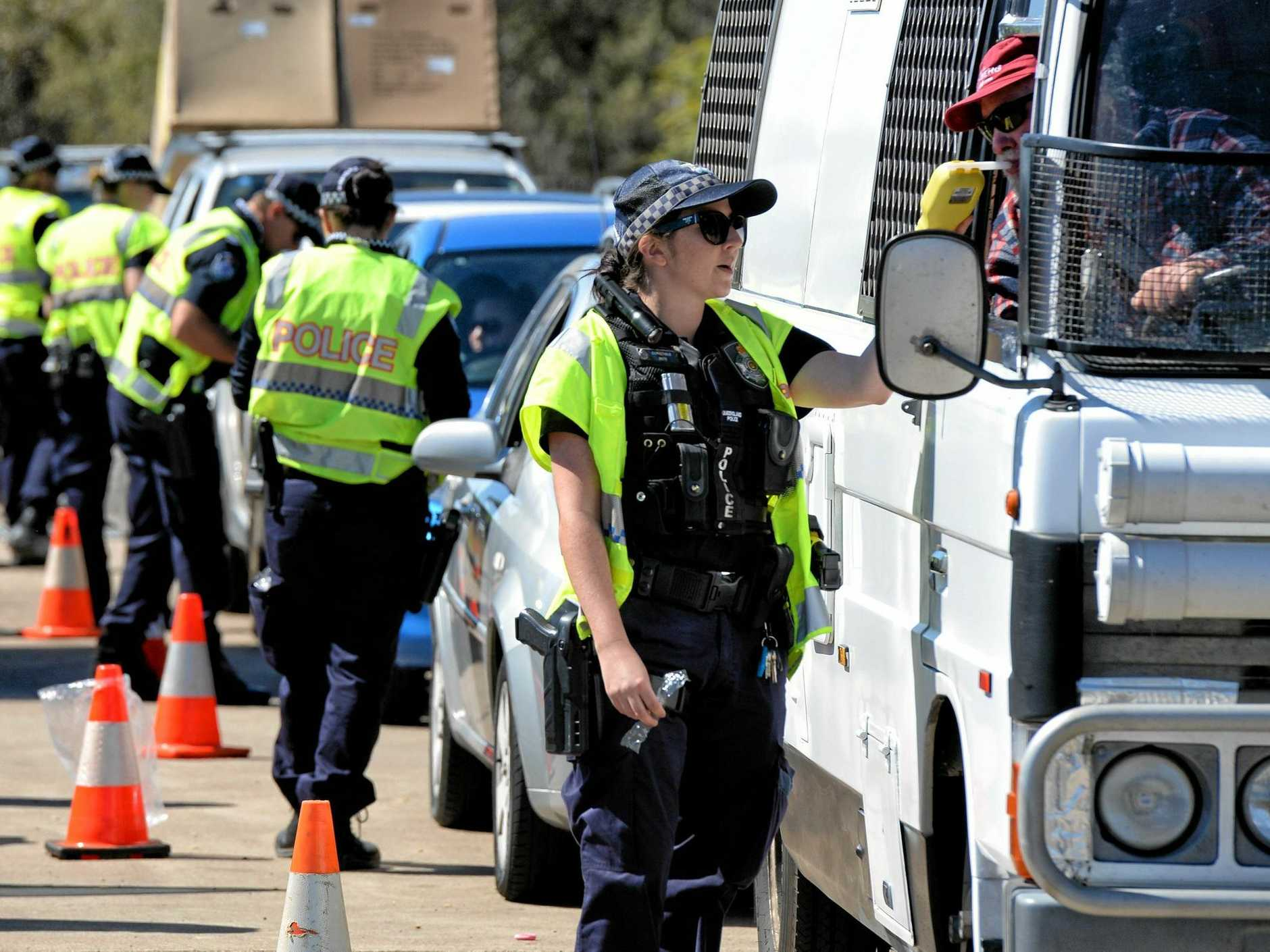 TESTING TIMES: Police test drivers during a recent drug and drink driving crackdown.