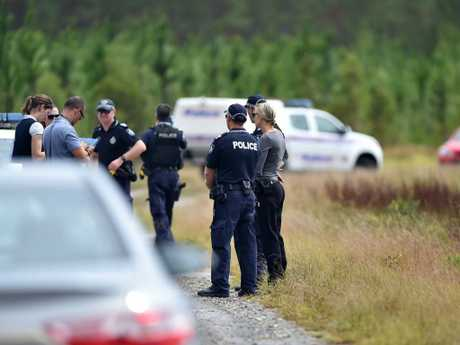 The bodies were discovered in a red Holden Commodore parked at a remote Queensland campsite. Picture: Patrick Woods/Sunshine Coast Daily