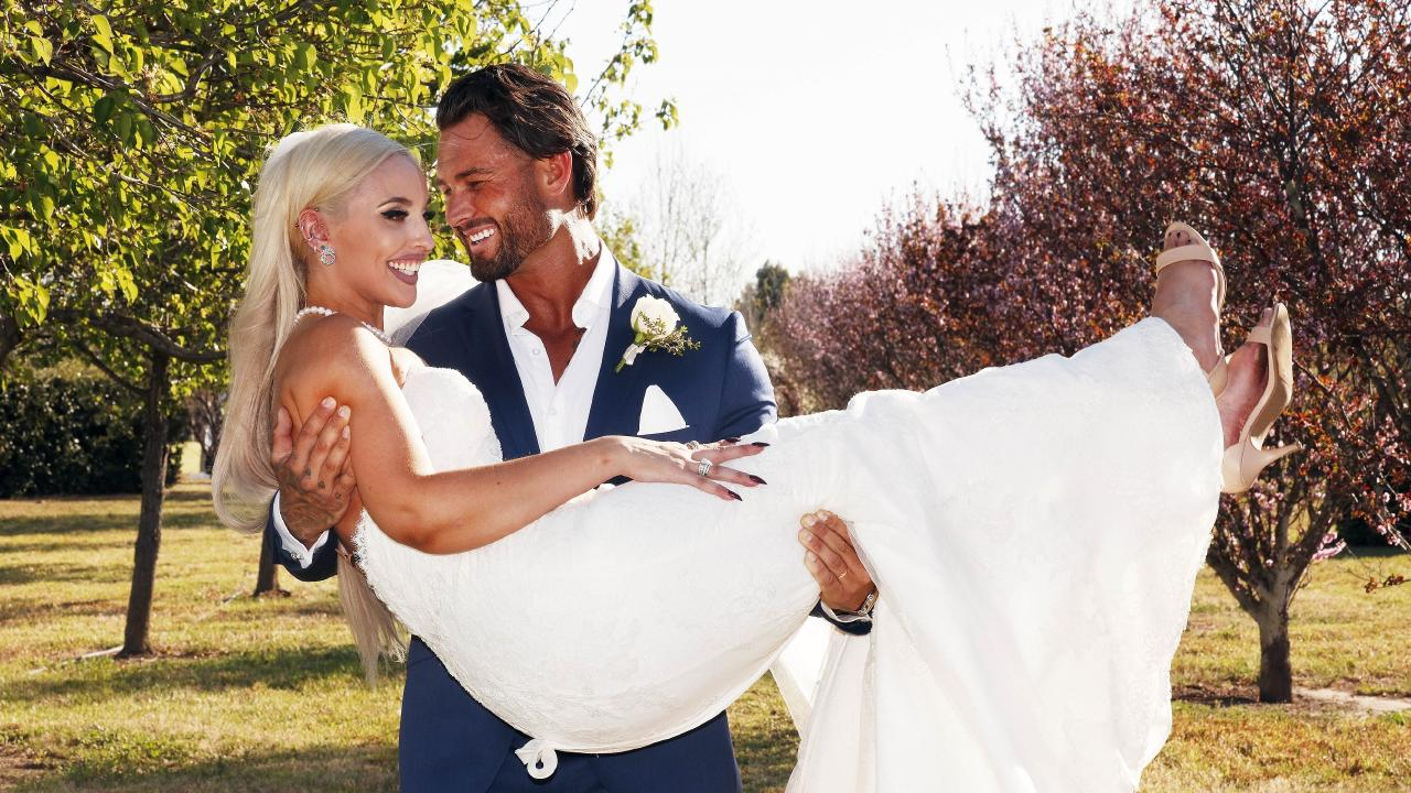 Married At First Sight contestants Sam and Elizabeth. Picture: Nigel Wright