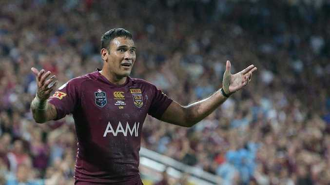 Justin Hodges is used to being the enemy once he steps into NSW. Picture: Peter Wallis
