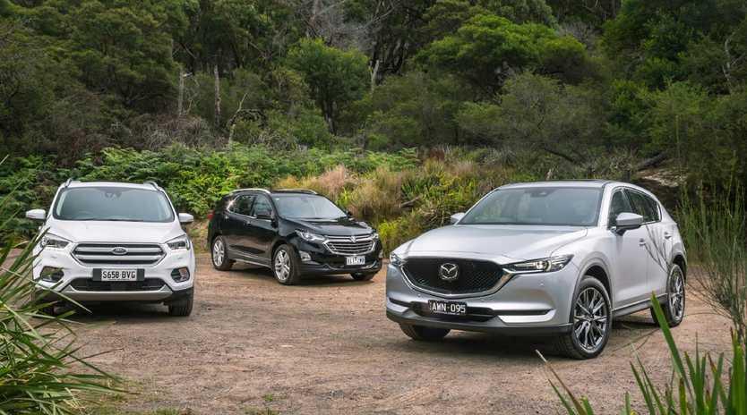 Ford Escape Titanium, Holden Equinox LTZ-V and Mazda CX-5 Akera Turbo. Pics by Thomas Wielecki
