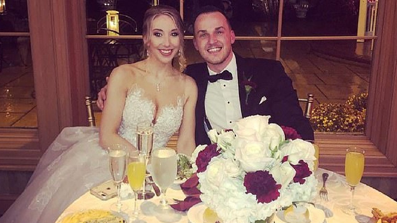 Matthew Aimers and his wife, Kayla. Picture: Supplied