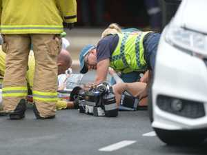 Man rushed to hospital after CBD crash