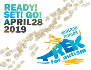 Get your walking shoes on and join us as we Trek for Autism and support Coast Families living with Autism. Generously supported by Vantage Homes.
