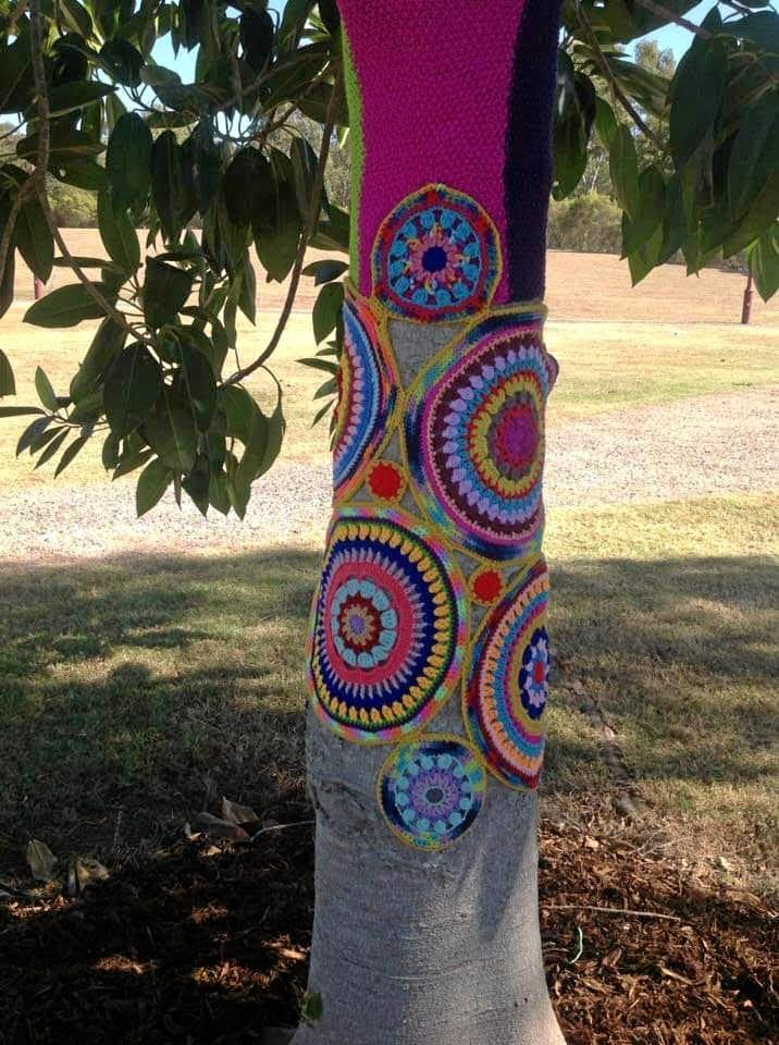 Esk is the latest town to feel the yarn bombing craze.