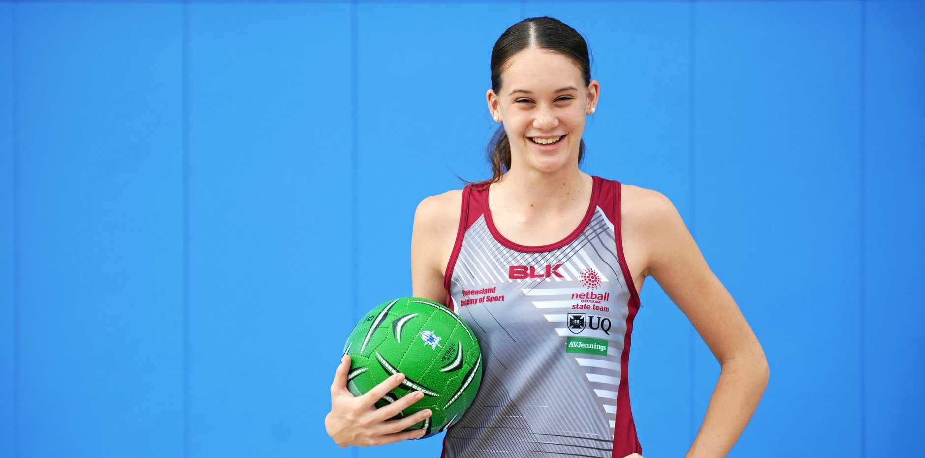 HIGH ACHIEVER: Rockhampton's Isabelle Shearer will represent Queensland at the national under-17 netball championships in Brisbane.