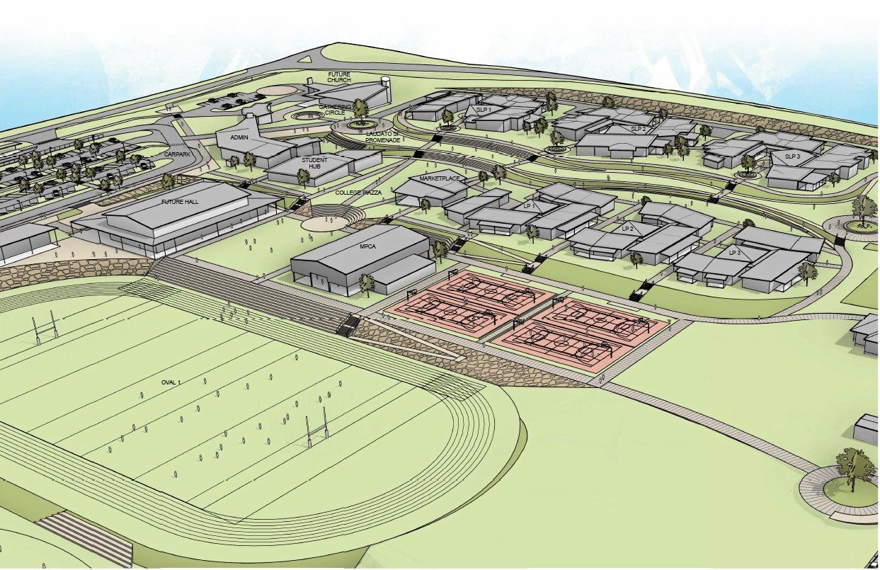 EDUCATION OPPORTUNITIES: Proposed plan for the new catholic secondary school at Plainland.