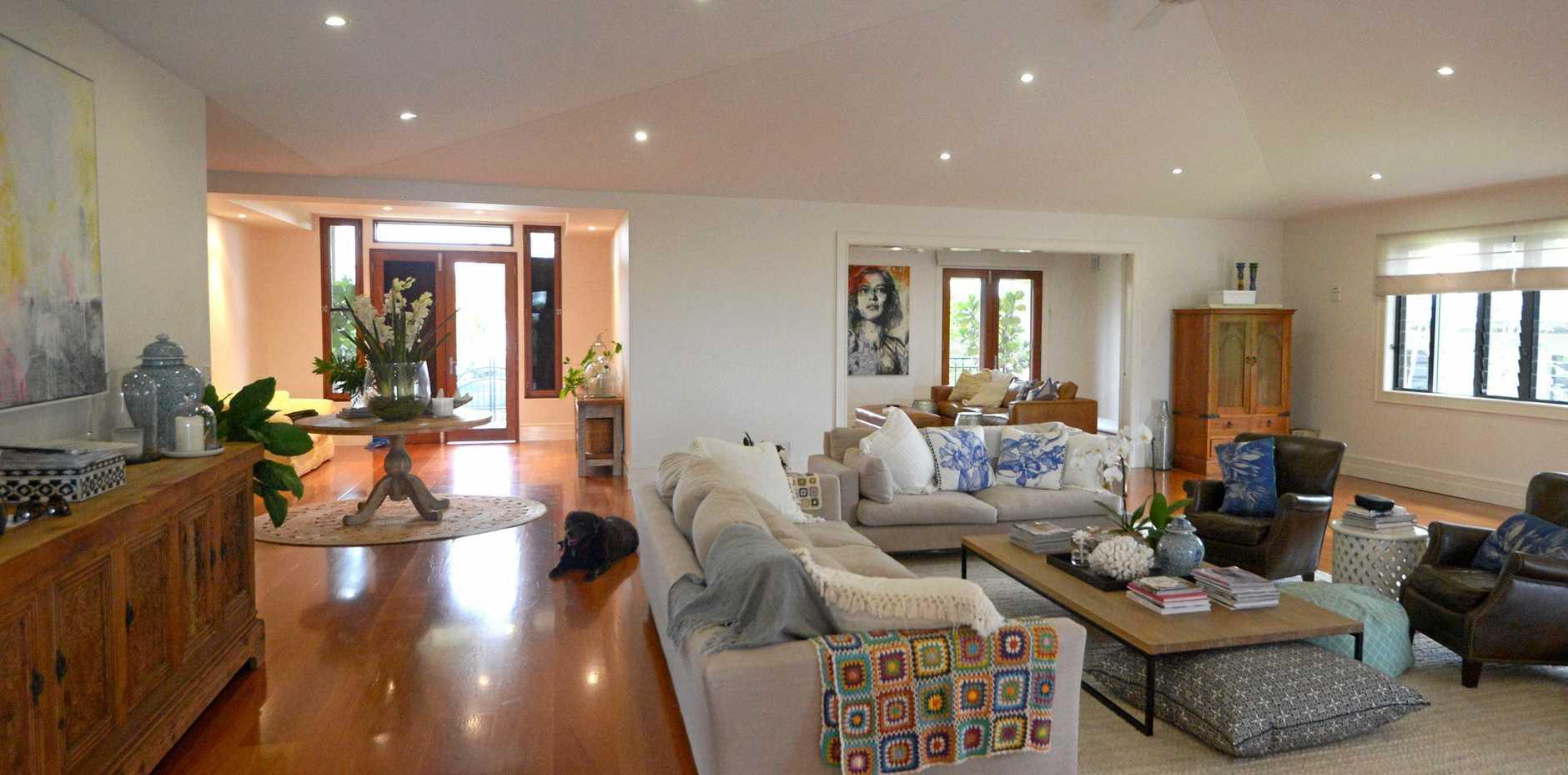 Open plan living at 50 Agnes St, The Range, Rockhampton
