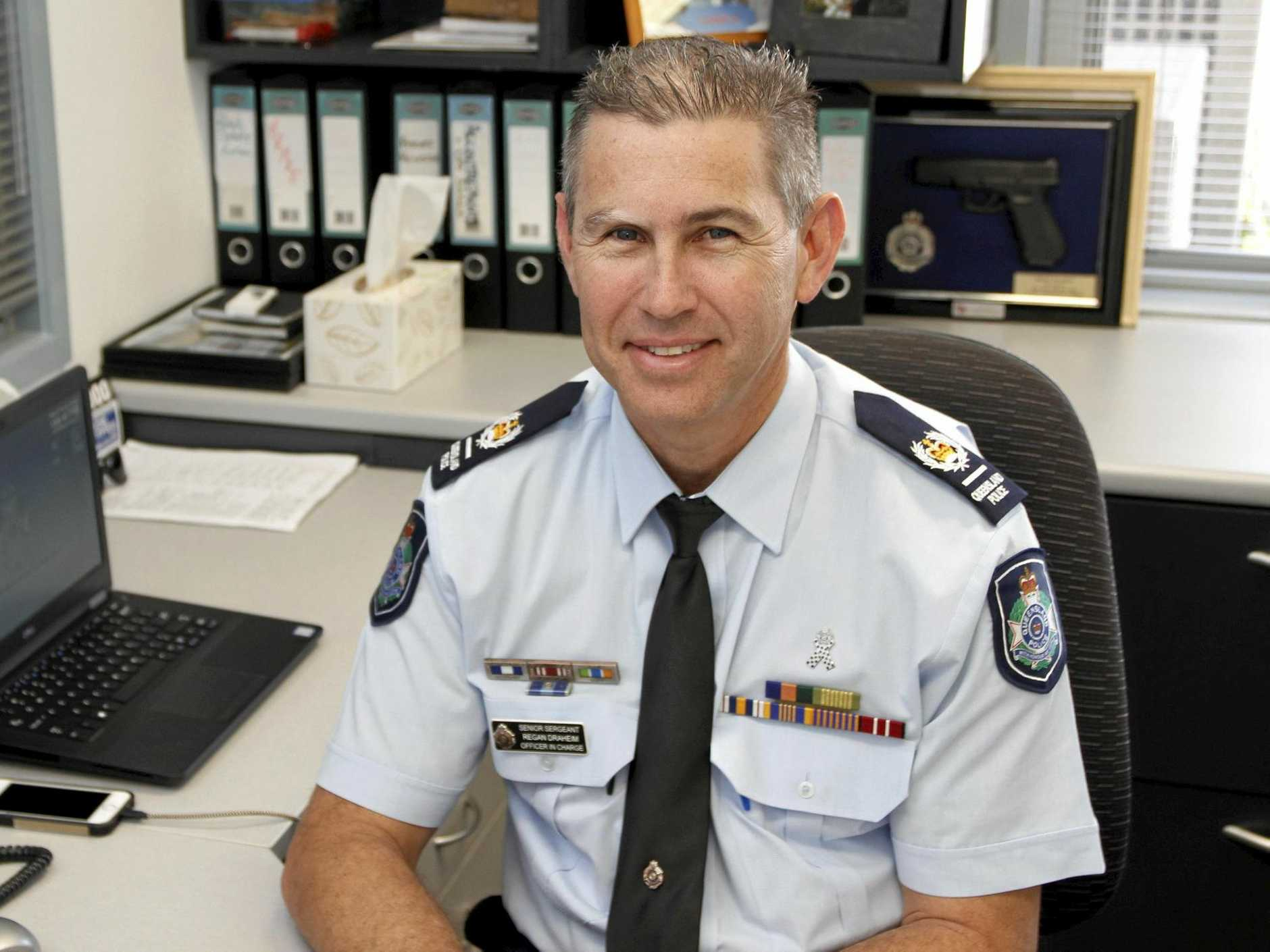 WARNING: Laidley Police officer-in-charge senior sergeant Regan Draheim issued a warning to be vigilant after a series of break-ins last month.