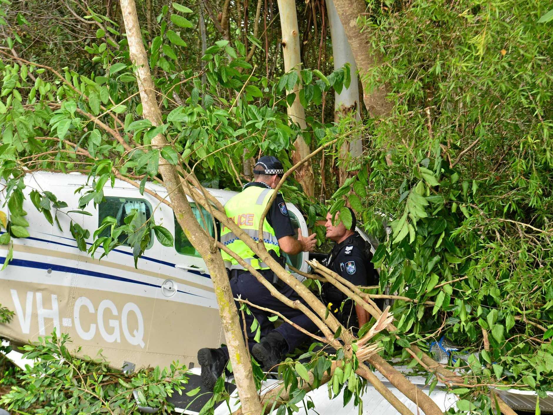 A plane crashed in the suburb of Palmwoods, Sunshine Coast.