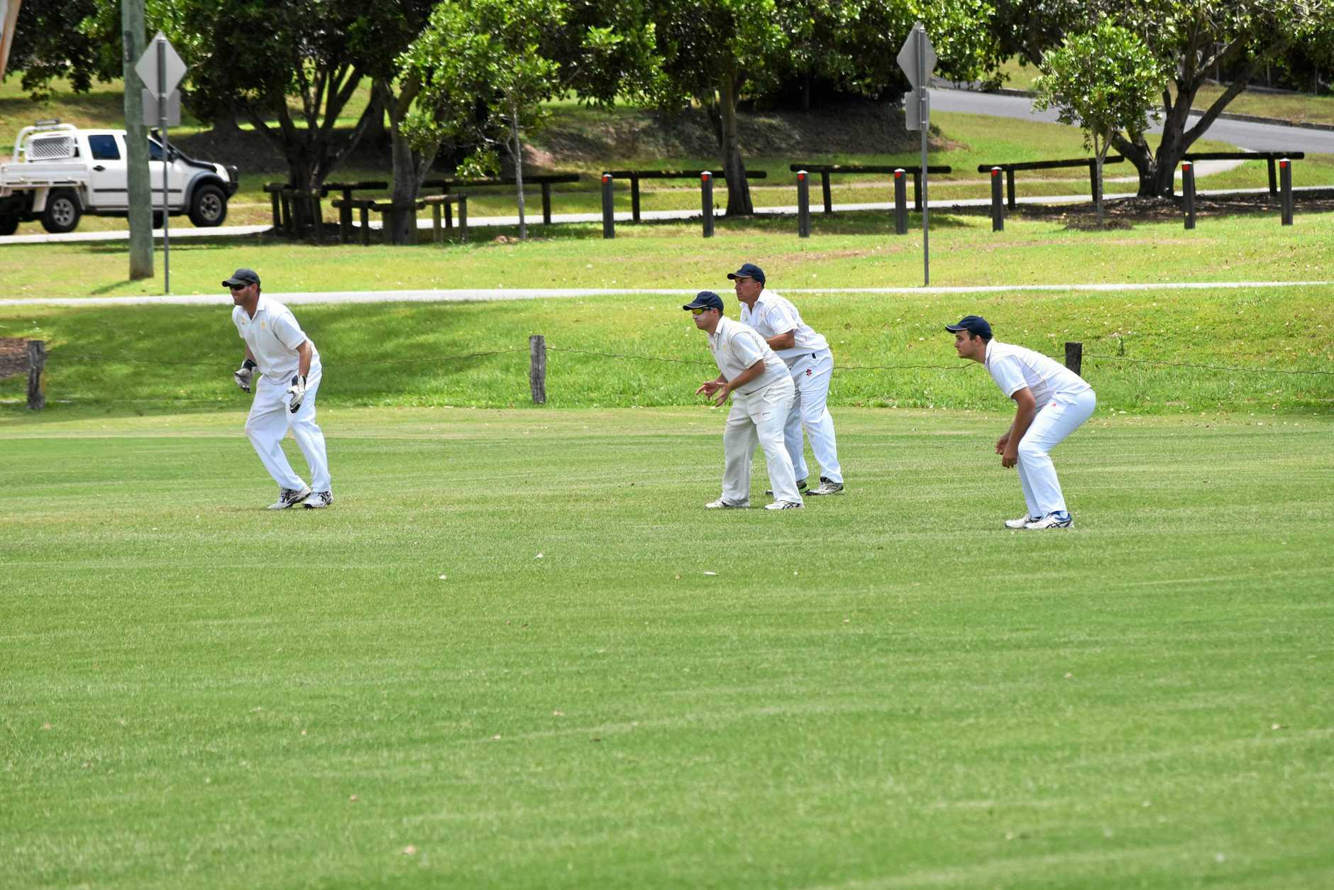Gympie Gold v Nambour - Gold slips.  (from left) Steven Brady, Jason Webber, Lewis Waugh and Nathan McClintock.