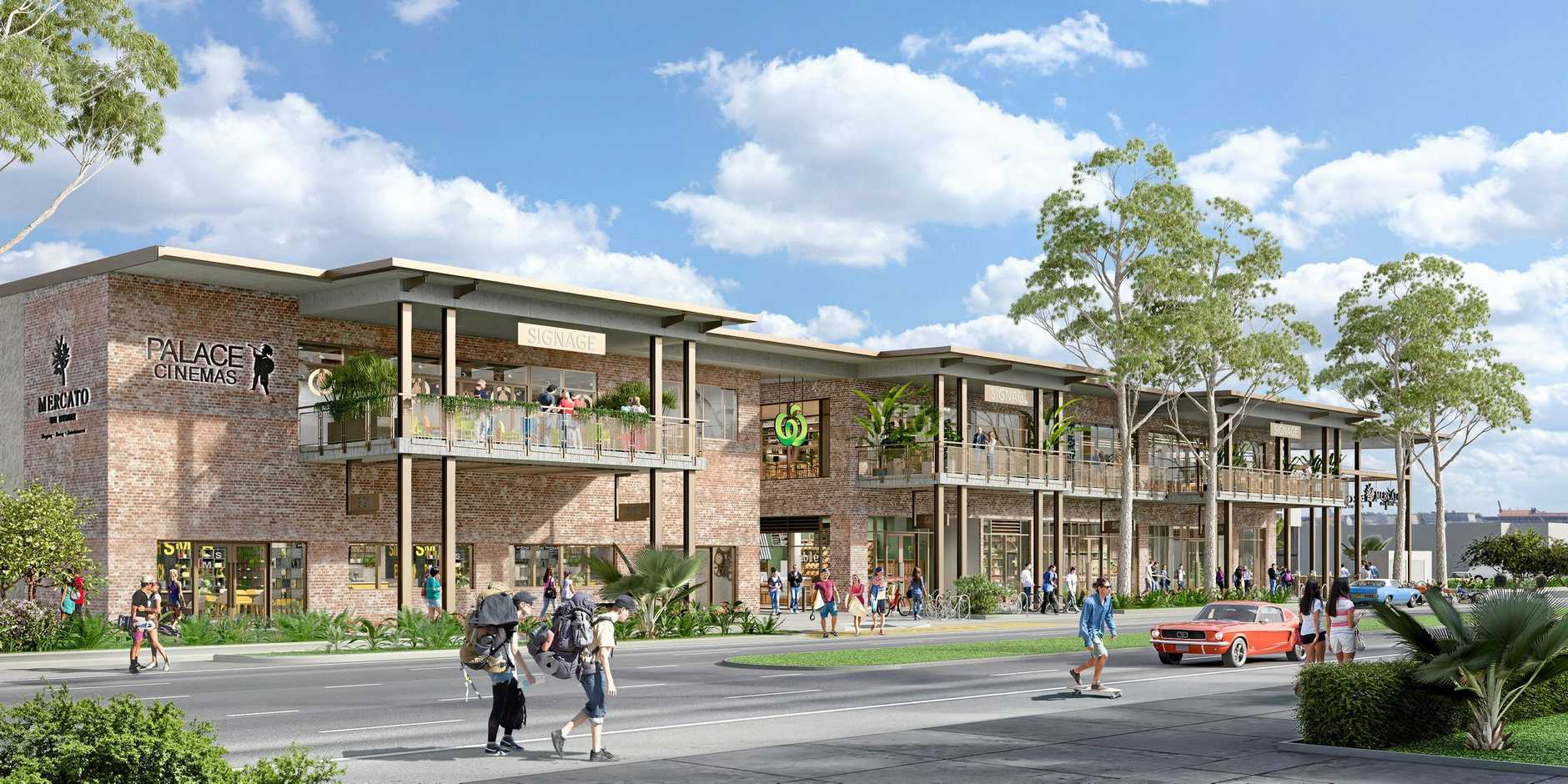 BUILDING: An artist's impression of the future Palace Cinemas at Mercato Byron Bay.