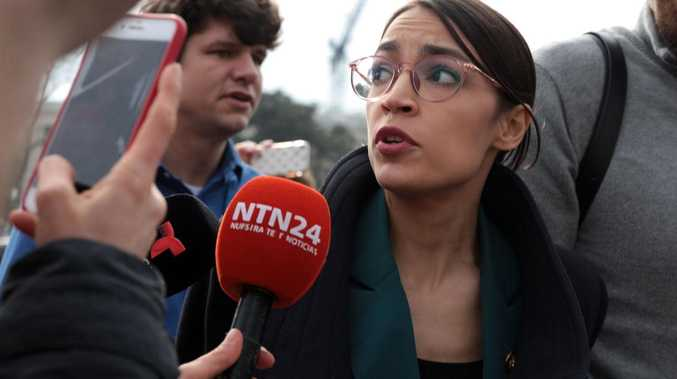 The youngest woman in Congress — and a social media powerhouse — is on a mission to take on Donald Trump. Picture: Alex Wong/Getty Images/AFP