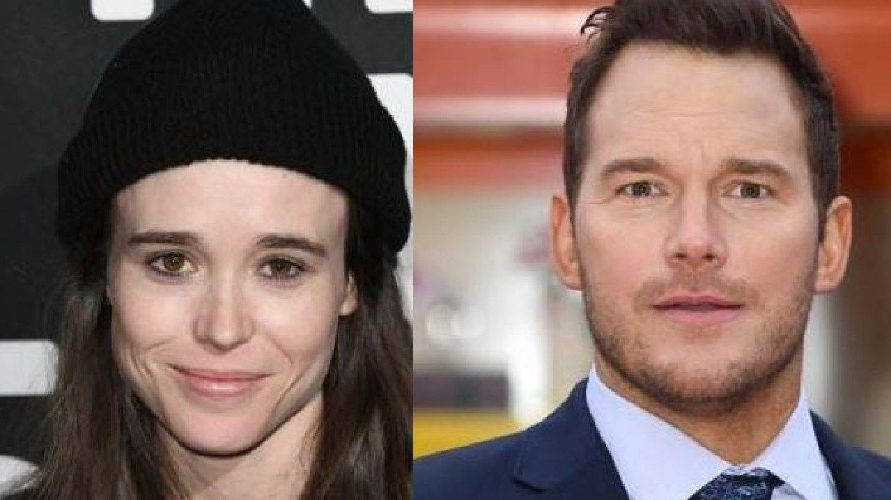 Ellen Page and Chris Pratt are in a feud over his church's LGBTQ views. Picture: Supplied