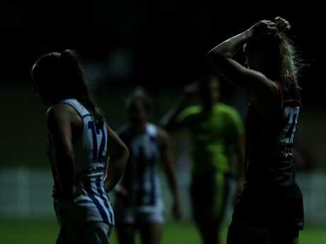 The players didn't let a little bit of darkness stop them.