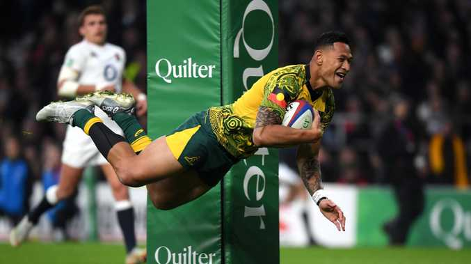 Israel Folau is the most exciting and dangerous attacker in Australian rugby. Picture: Getty Images