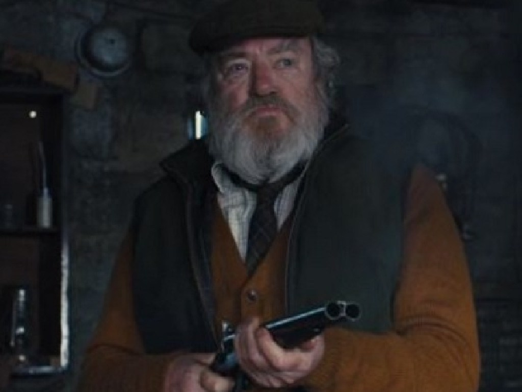 Albert Finney as Kincade in James Bond movie Skyfall. Picture: Supplied