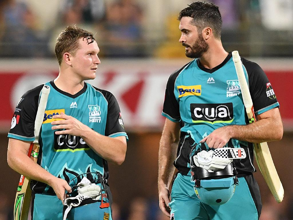 Openers Max Bryant  and Ben Cutting proved a powerhouse duo, smashing 158 in just 10 overs. Picture: Dave Hunt/AAP