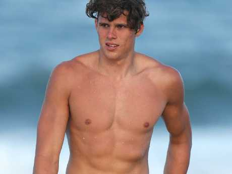 Charlie Curnow at the Blues' pre-season camp 12 months ago.