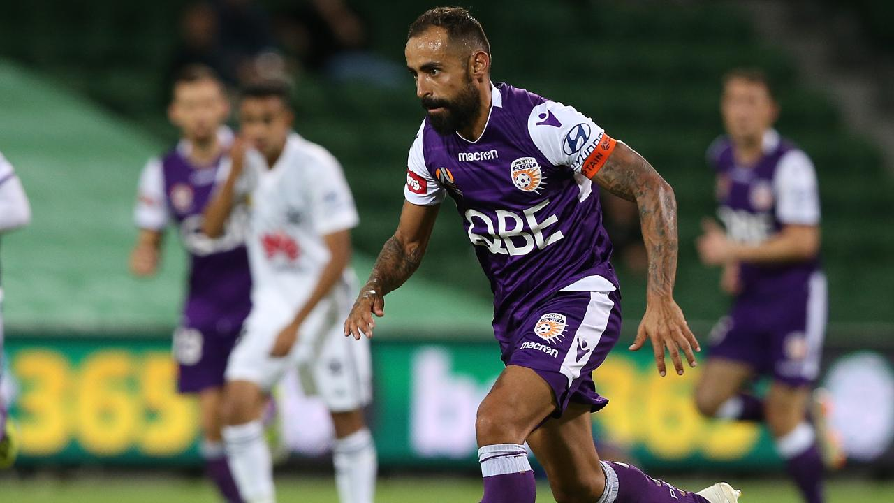 Diego Castro is having a stellar season with Perth Glory. Picture: Getty Images