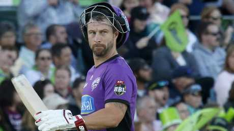 Matthew Wade played a lone hand for the Hurricanes. Picture: AAP