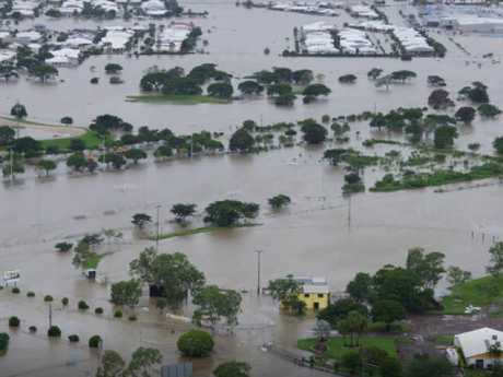 Hermit Park Tigers Football Club during the current floods in Townsville.