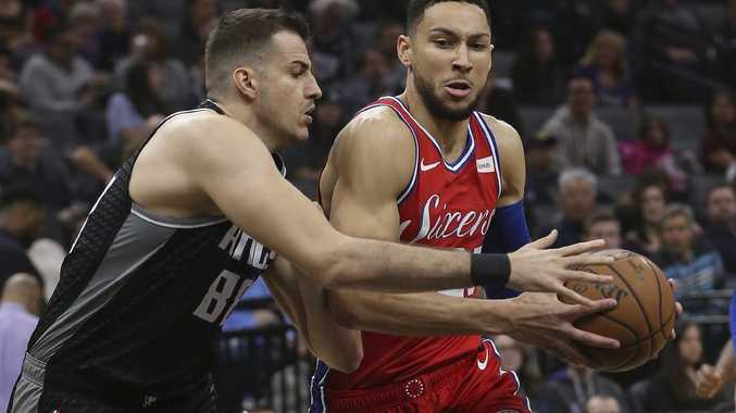 Ben Simmons may be feeling a little unloved. Picture: Rich Pedroncelli/AP
