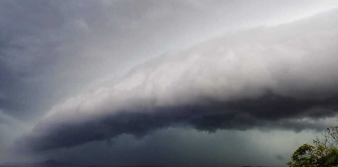 Advocate reader Bronwyn Hawkes has shared this image of storm clouds rolling over Nambucca Heads this afternoon.